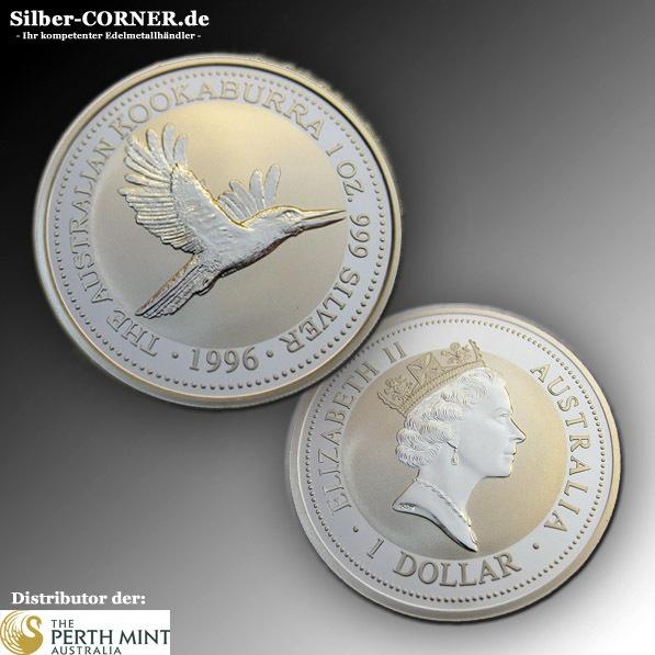1996 Kookaburra 1 Unze Silber