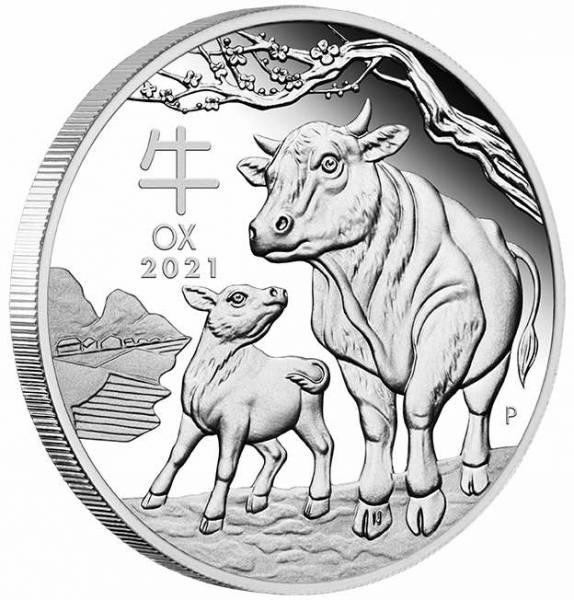 Lunar III - Ochse - 1/2 Oz Silber Proof + Box + COA*