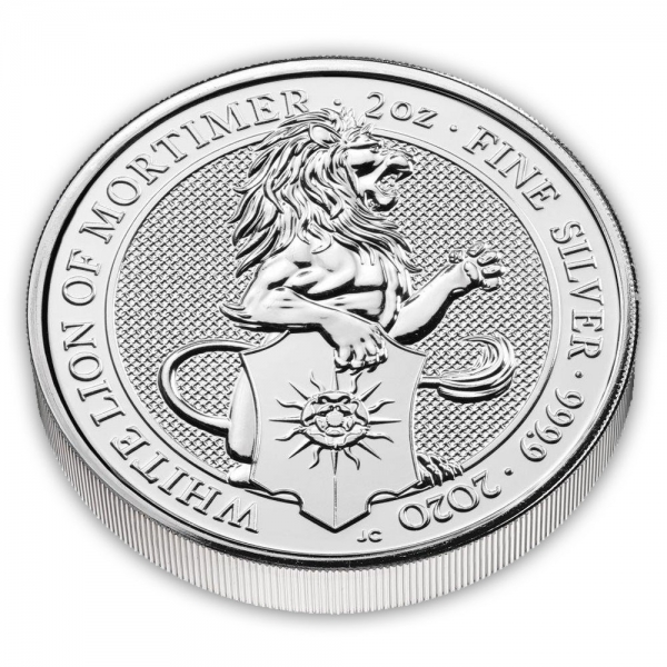 2 Oz Silber White Lion Queens Beast 2020*