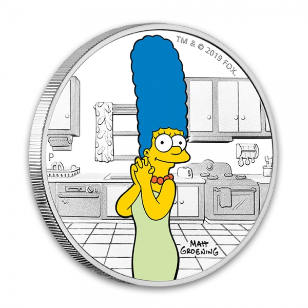The Simpsons - Marge 1 Oz Silber Proof 2019*