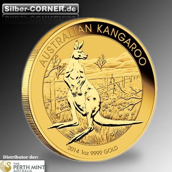 Känguru 1 Unze Gold 2014 Goldmünze