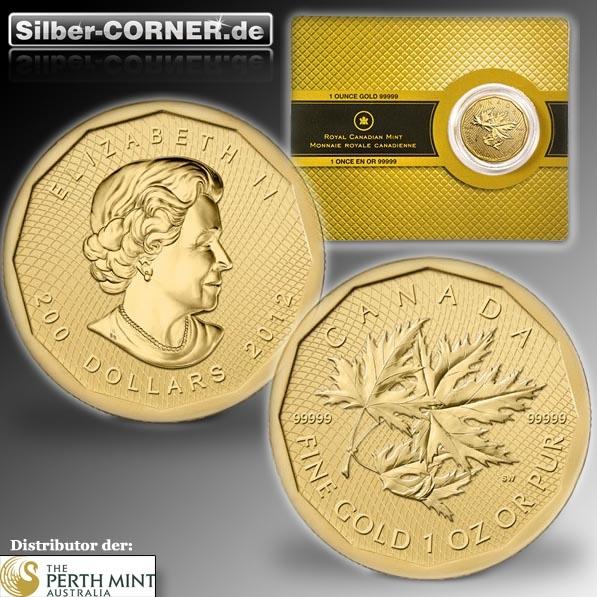 Maple Leaf 5x9 2012 1 Oz Gold