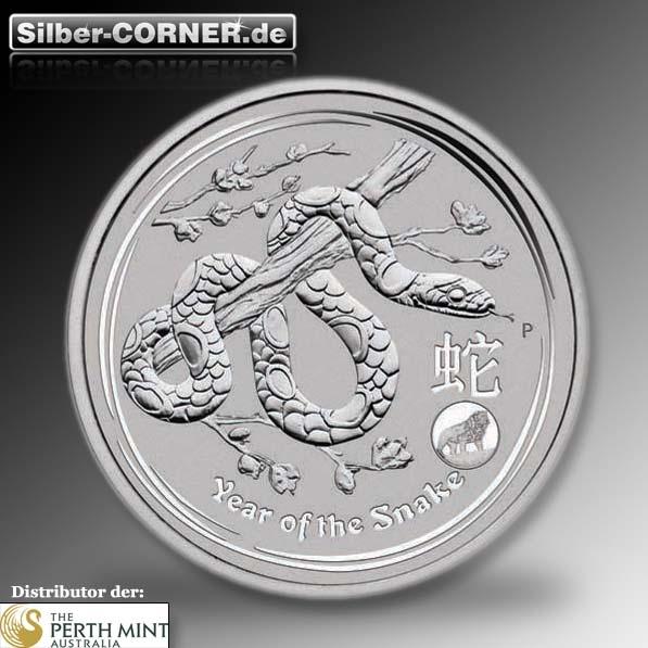 Lunar II Schlange 1 Oz Silber Privy Mark 2013 *