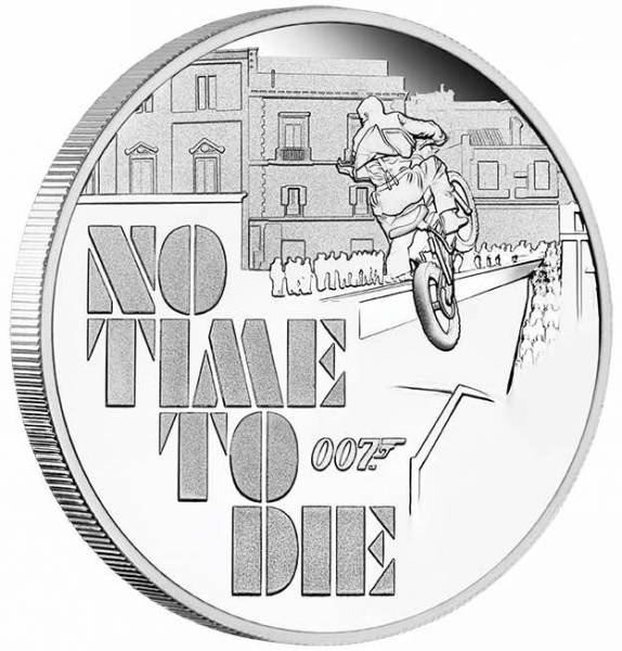 James Bond - No Time to Die - 1 Oz Silber Proof 2020 +Box +COA*