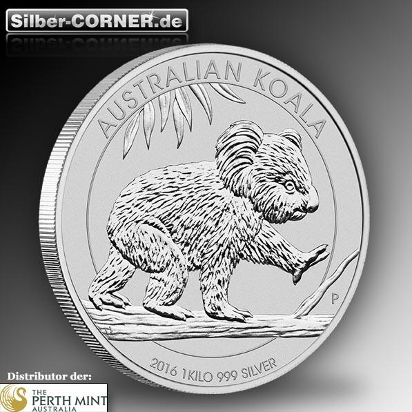 Koala 2016 1 Kg Silber *