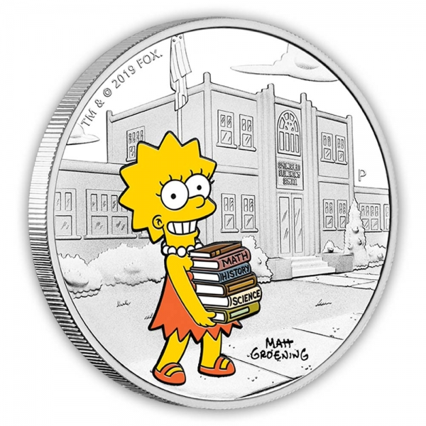 The Simpsons Lisa 1 oz Proof Silber 2019*