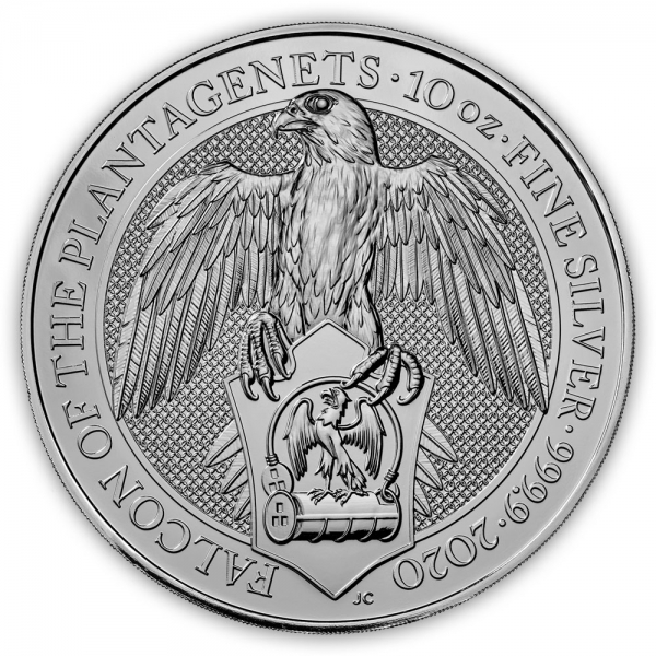 Queens Beasts - Falcon - 10 Unzen Silber 2020*
