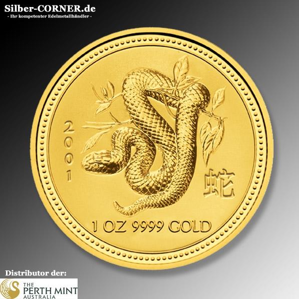 Lunar Schlange 2001 1 Oz Gold