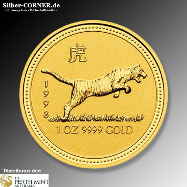 Lunar I Tiger 1/20 Oz Gold 1998