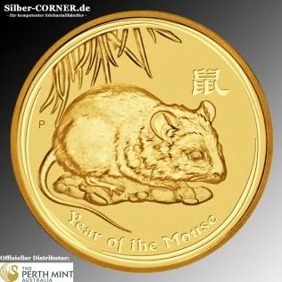 Lunar II Maus 2008 1/10 Oz Gold
