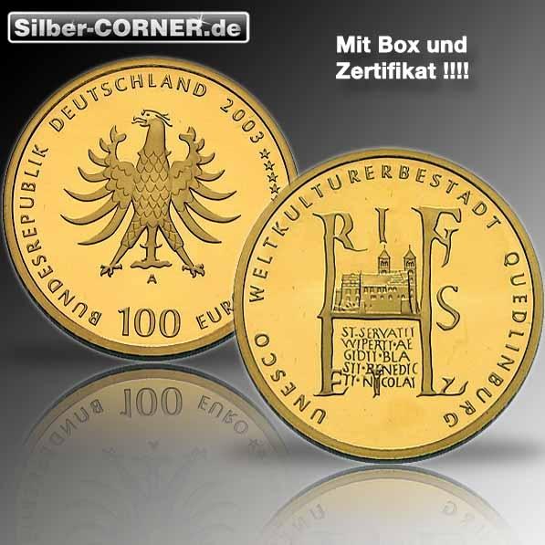 100 Euro Quedlinburg Goldmünze