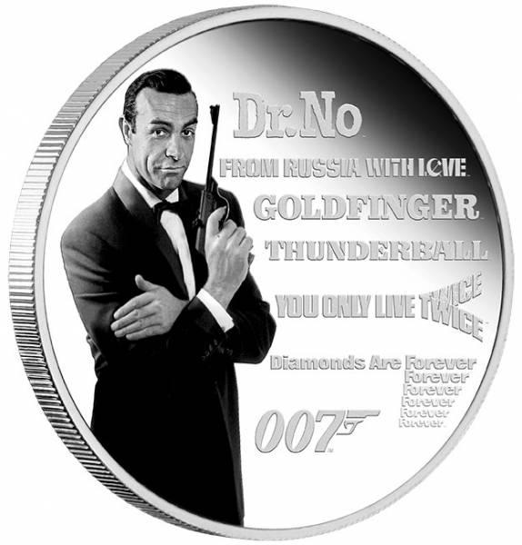 James Bond Legacy Serie 1 Unze Silber 2021 Sean Connery + Box +COA*