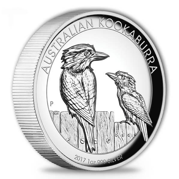 Kookaburra 2017 1 Oz Silber - High Relief - Box + COA*