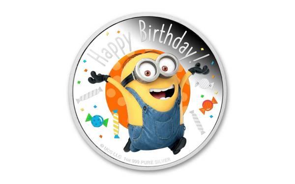 Minions - Happy Birthday - 1 Oz Silber Proof 2020*
