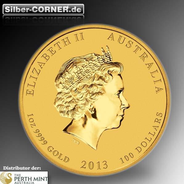 100 australische dollar 2013 schlange farbig