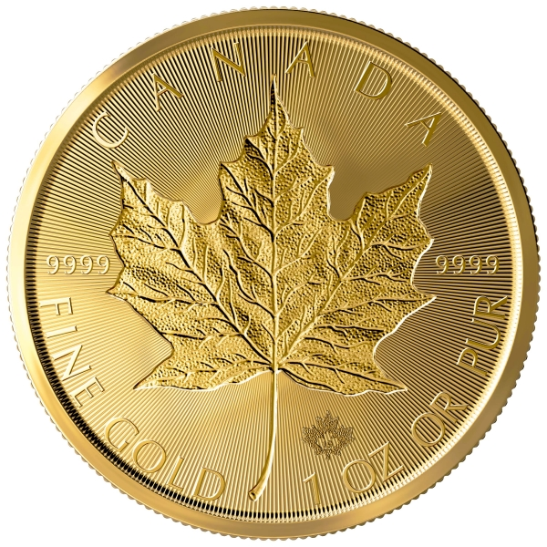 1 Oz Gold Incuse Maple 2019
