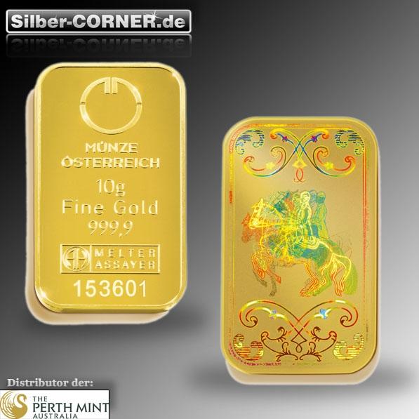 10 Gramm Lipizaner Goldbarren