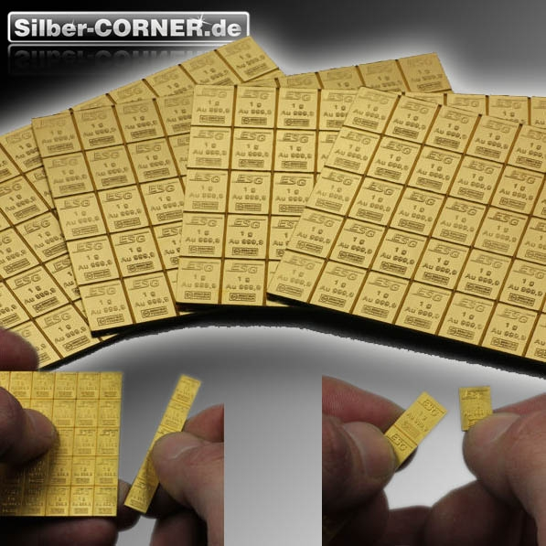 Goldtafel 50 x 1 Gramm