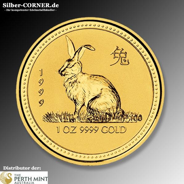 Lunar Hase 1999 1 Oz Gold