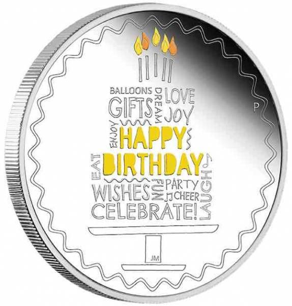 Happy Birthday Silbermünze 1 Unze