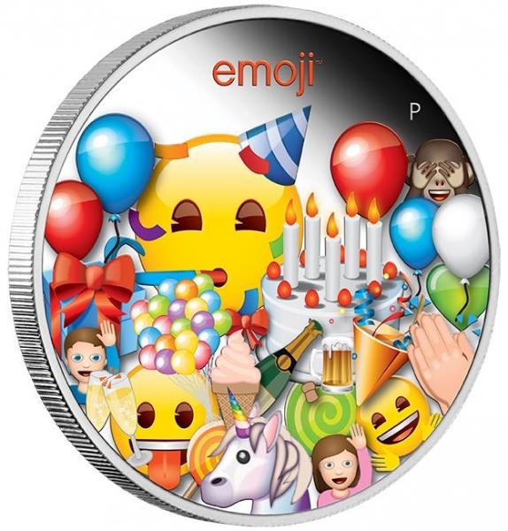 Emoji 1 Unze Silber Proof + Box + COA*