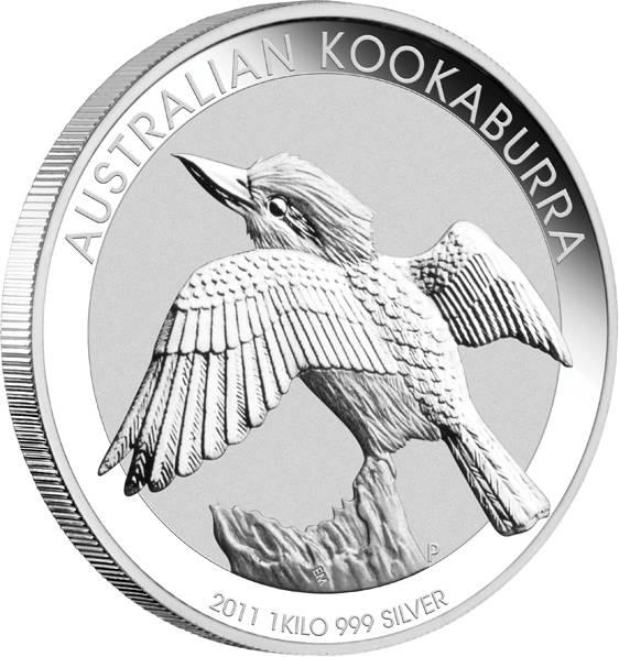Kookaburra 1 KG Silbermünze 2011