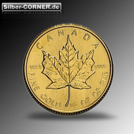 1/4 Oz Gold Maple Leaf ältere Jahrgänge