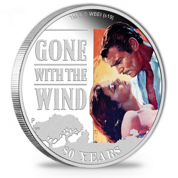 Vom Winde verweht - 1 Oz Silber Proof + Box +COA*