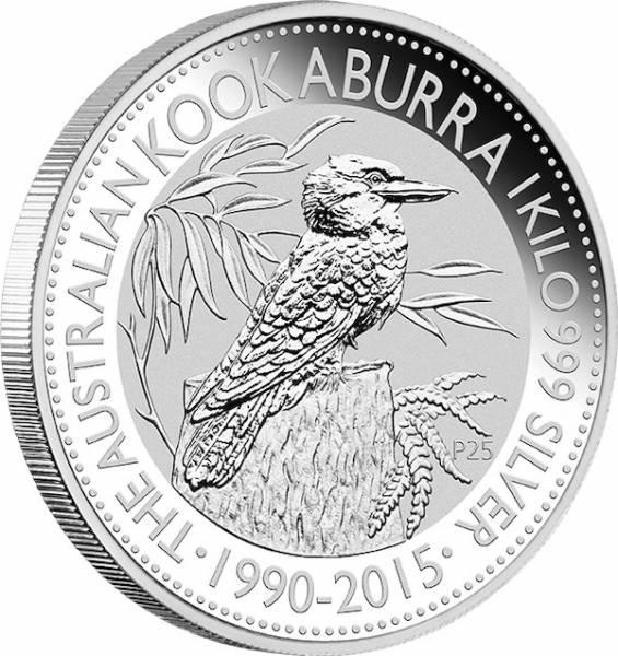 Kookaburra 1 KG Silbermünze 2015