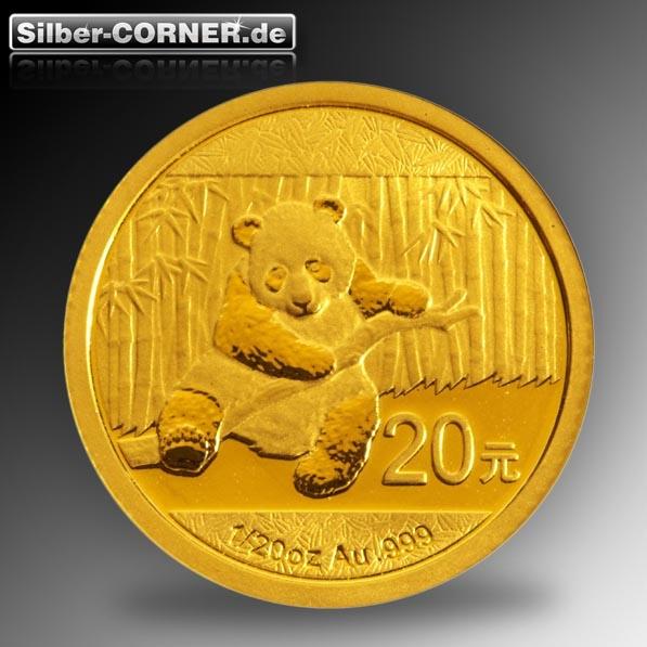 1/20 Oz Gold China Panda 2014
