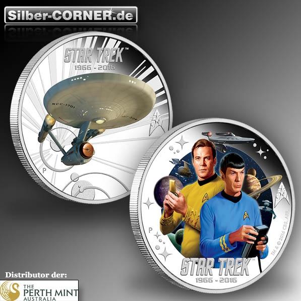 NCC Enterprise Münze und Kirk & Spock Münze