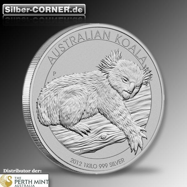Koala 1 Kg 2012 Silber
