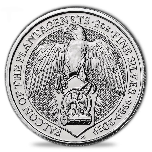 Queens Beasts -Falcon of Plantagenets- 2 Unzen Silber *