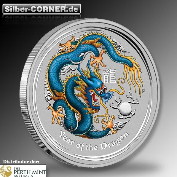lunar drache blau silber