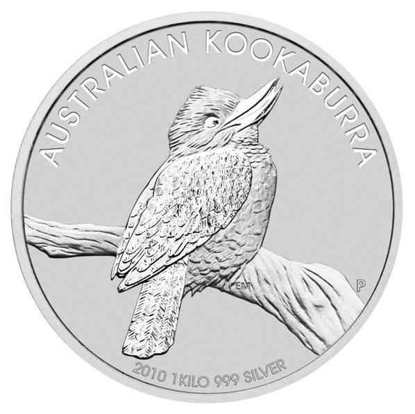 Kookaburra 1 KG Silbermünze Jahrgang 2010