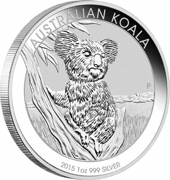 Koala Australien 1 Unze Silbermünze 2015