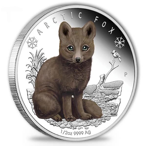 Polar Babies - Arctic Fox - 1/2 Oz Silber Proof + Box*