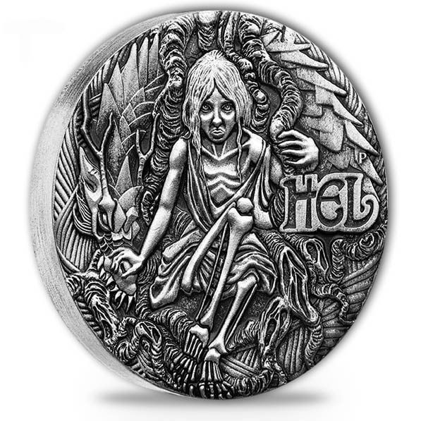 Norse Goddesses - Hel - 2 Oz Silber Antik Finish *