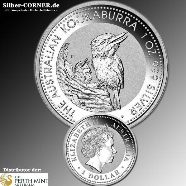 1997 Kookaburra 1 Unze Silber