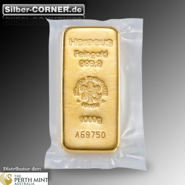 1 Kg Goldbarren von Heraeus