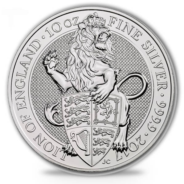 Queen´s Beasts - The Lion - 10 Oz Silber 2017 *