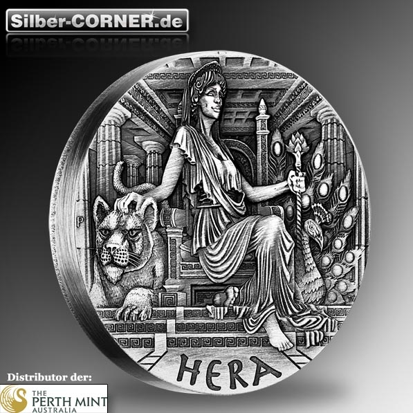 Göttinnen des Olymp -Hera- 2 Oz Silber High Relief Coin*