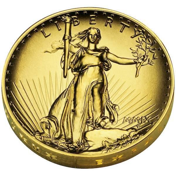 Double Eagle 1 Oz Gold Ultra High Relief 2009 +Box +COA*