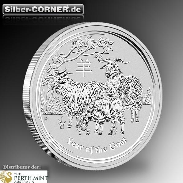 Lunar II 10 Kg Silber Jahr der Ziege 2015 *