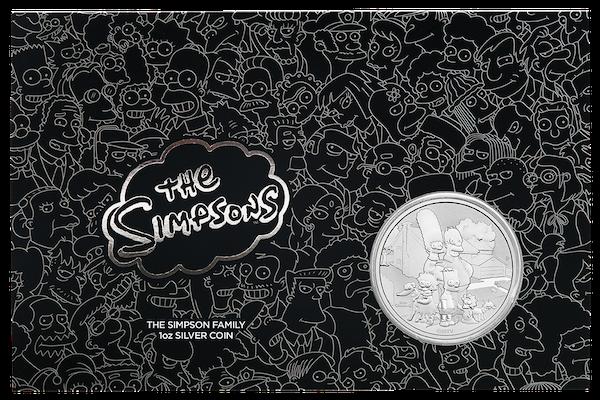 Simpsons Family 1 Unze Silber 2021 im Blister*