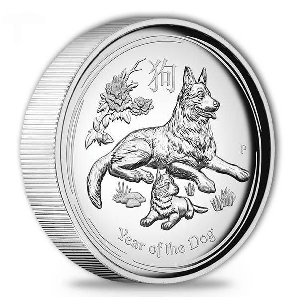 Lunar II - Jahr des Hundes - 1 Oz Silber - High Relief -*