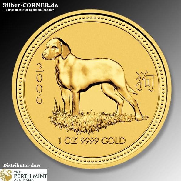 Lunar I Hund 1/20 Oz Gold 2006
