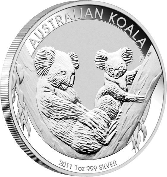 Australien Koala 1 Unze Silbermünze 2011