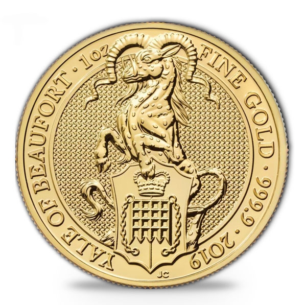 1 oz Gold Queens Beast Yale of Beaufort 2019