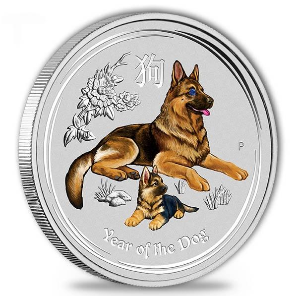 Lunar II - Hund - Gemstone 1 KG Silber + Sapphire*
